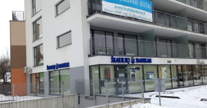 Pastatas Birštone, kur yra Šiaulių bankas