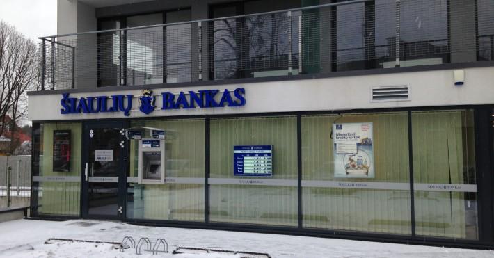Šiaulių bankas iš šono Birštone