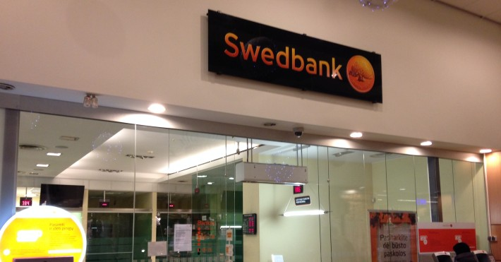 Swedbank SAVAS skyriaus įėjimas