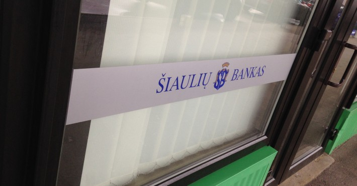 Šiaulių banko Dainavos fasado logo URMAS