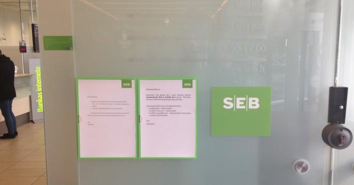 SEB Akropolio įėjimo pastabos, darbo laikas