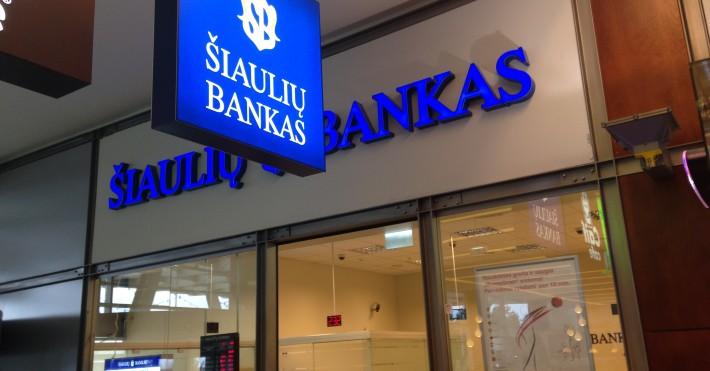 Šiaulių banko iškaba