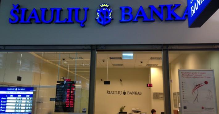 Šiaulių banko fasadas Akropolyje