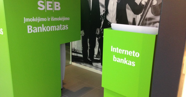 SEB MEGA Interneto bankas, bankomatas