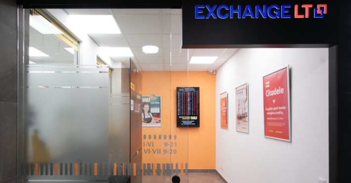 Valiutos keitykla EXCHANGELT Vilniuje, Mindaugo Maximoje