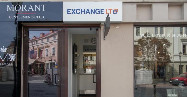 Valiutos keitykla EXCHANGELT Vilniaus Senamiestyje