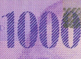 1000 Swiss francs chameleon number