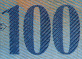 100 Swiss francs coloured number