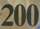 200 Swiss francs coloured number