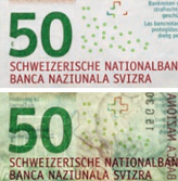 50 new Swiss francs Watermark