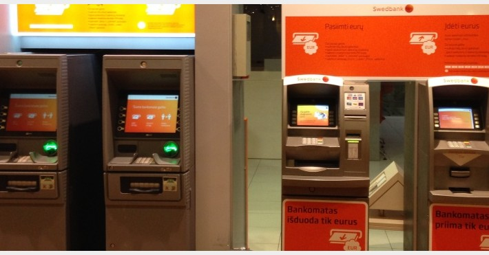 Swedbank bankomatai