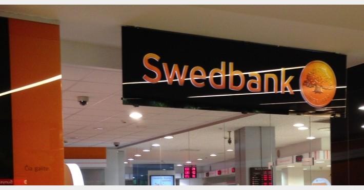 Swedbank skyriaus iškaba