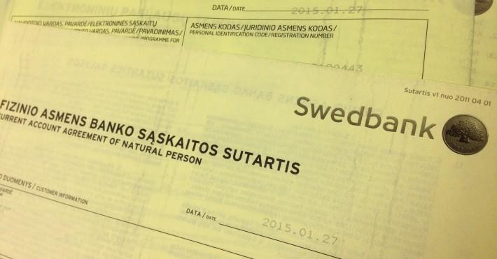 Swedbank sutartis
