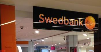 Swedbank skyriaus iškaba mini