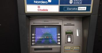 Šiaulių banko bankomatas mini