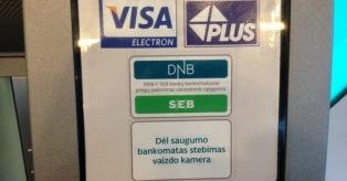 SEB DNB bankomatai mini