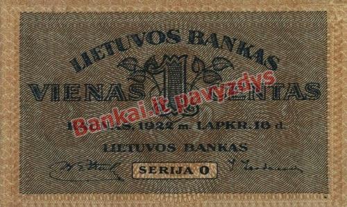 1 Cento banknoto priekinė pusė