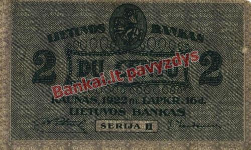 2 Centų banknoto priekinė pusė
