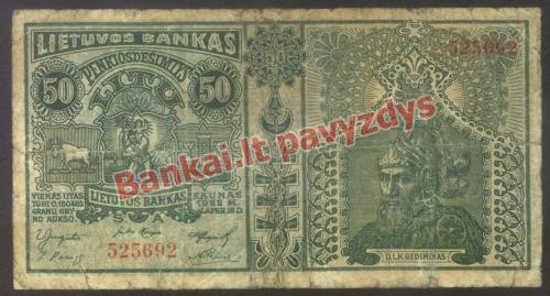 50 Litų banknoto priekinė pusė