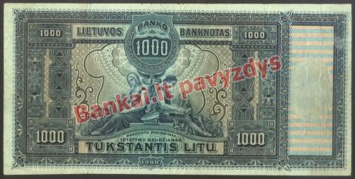 1000 Litų banknoto galinė pusė