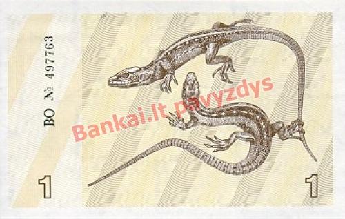 1 Talonų banknoto galinė pusė