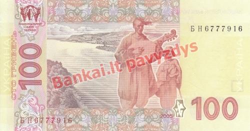 100 Hyrvenų banknoto galinė pusė
