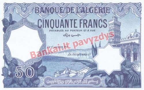 50 Frankų banknoto priekinė pusė