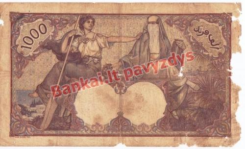 1000 Frankų banknoto galinė pusė