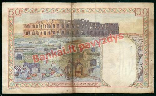 50 Frankų banknoto galinė pusė