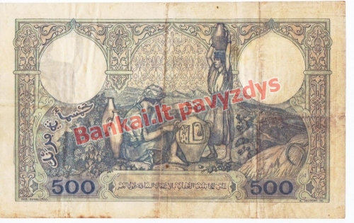 500 Frankų banknoto galinė pusė