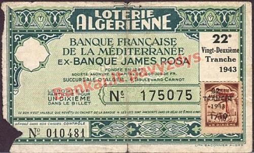 110 Frankų banknoto priekinė pusė