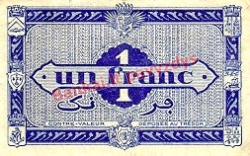 1 Franko banknoto galinė pusė