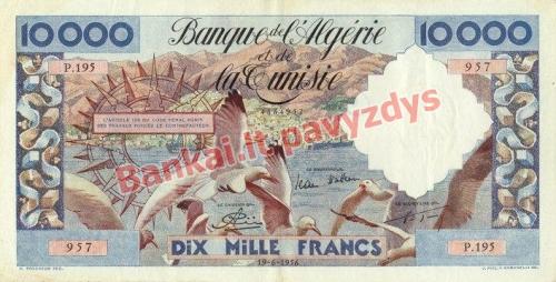 10000 Frankų banknoto priekinė pusė