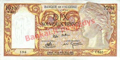 10 Nouveau banknoto priekinė pusė
