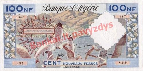 100 Naujųjų frankų banknoto priekinė pusė
