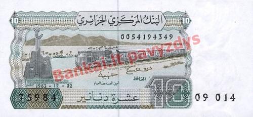 10 Dinarų banknoto priekinė pusė