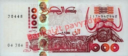 1000 Dinarų banknoto priekinė pusė