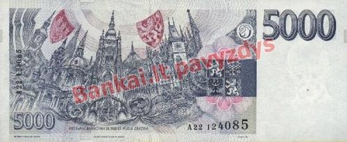 5000 Korunų banknoto galinė pusė