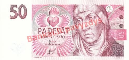 50 Korunų banknoto priekinė pusė
