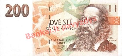 200 Korunų banknoto priekinė pusė
