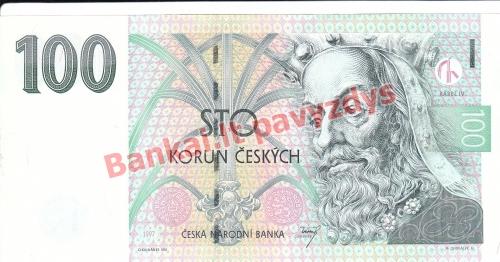 100 Korunų banknoto priekinė pusė