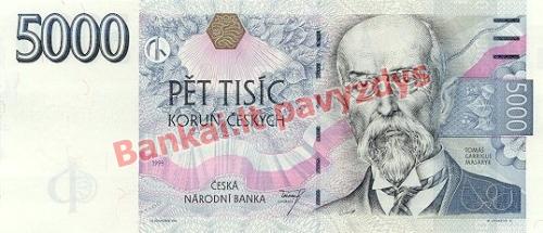 5000 Korunų banknoto priekinė pusė