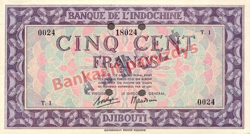500 Frankų banknoto priekinė pusė