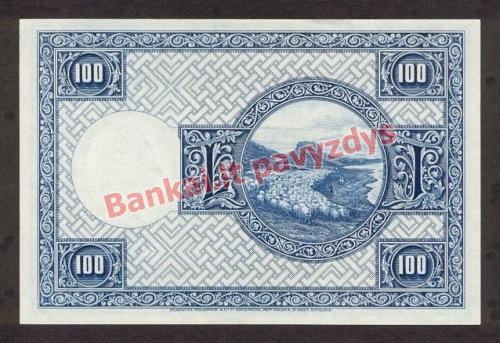 100 Kronų banknoto galinė pusė