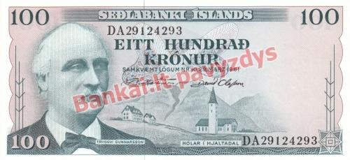 100 Kronų banknoto priekinė pusė