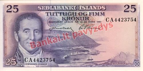 25 Kronų banknoto priekinė pusė