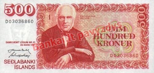 500 Kronų banknoto priekinė pusė