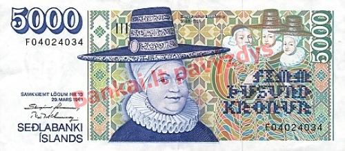 5000 Kronų banknoto priekinė pusė