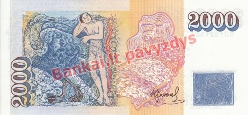 2000 Kronų banknoto galinė pusė