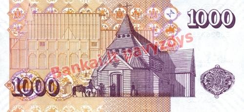 1000 Kronų banknoto galinė pusė